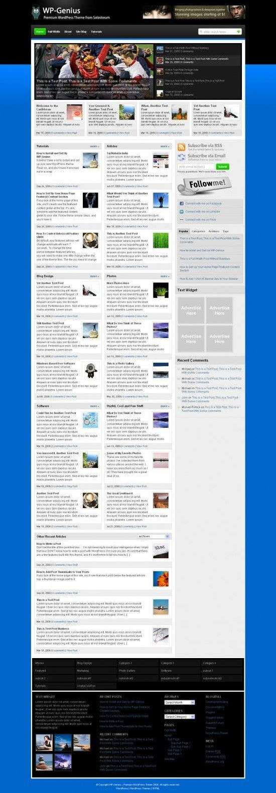 WP Genius Solostream 550x1586 - WP-Genius Premium Wordpress Theme