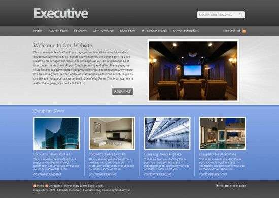 executive wordPress theme 550x391 - Executive 1.0 Wordpress Theme