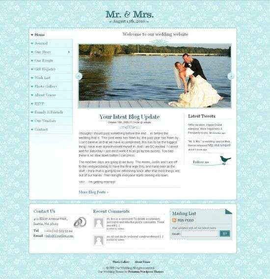 mr mrs avjthemescom premiumthemes 550x568 - Mr. & Mrs. Wedding Wordpress Theme
