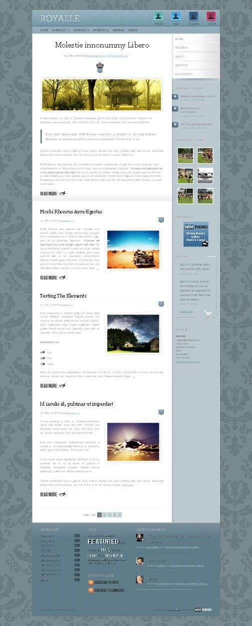 Eoyalle Woothemes wordpress theme