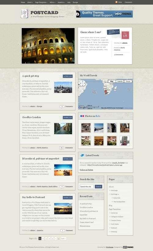 avjthemes postcard wordpress wootheme - Postcard Wordpress Theme