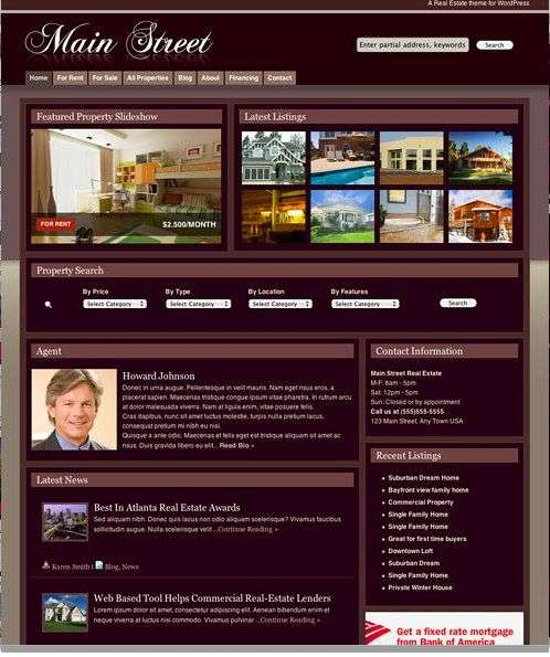 mainstreettheme - Main Street Wordpress Theme
