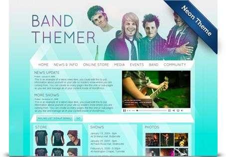 neon wordpress theme - BandThemer Wordpress Themes