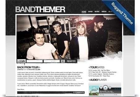 rugged wordpress theme - BandThemer Wordpress Themes