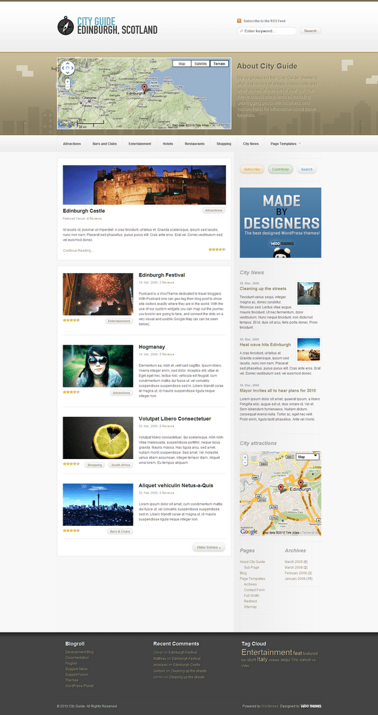 city guide wordpress theme - City Guide Wordpress Theme