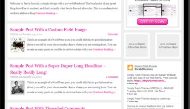 fresh journal simplyfreshthemes avjthemes - Simply Fresh Wordpress Themes