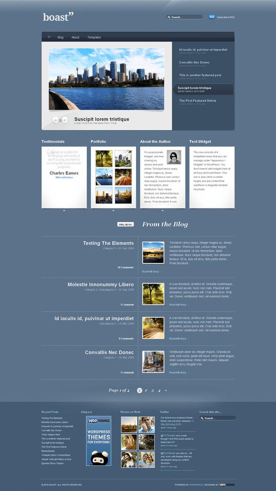boast woo wordpress theme - Boast Premium Wordpress Theme