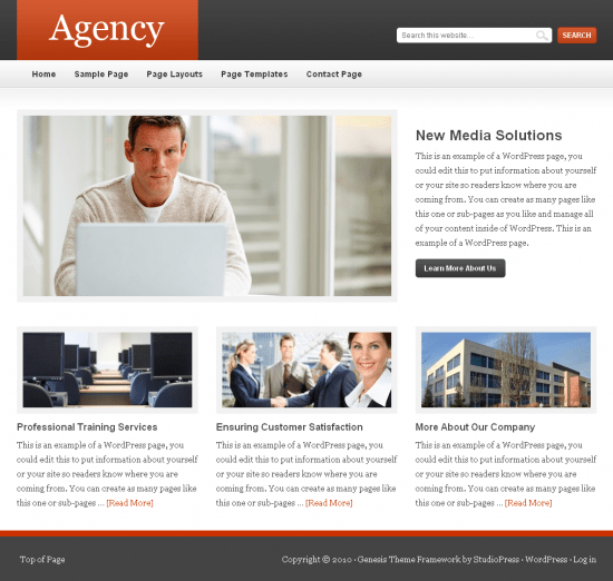 agency genesis studiopress 550x522 - Agency Premium Wordpress Theme