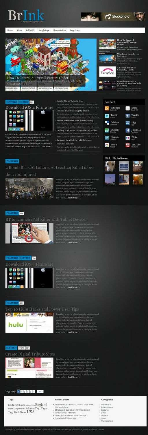 brink bleepli wordpress themes - BrInk Premium WordPress Theme