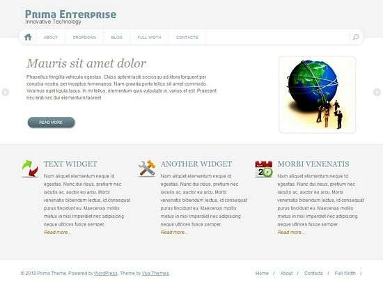 prima wordpress theme - Prima Premium WordPress Theme