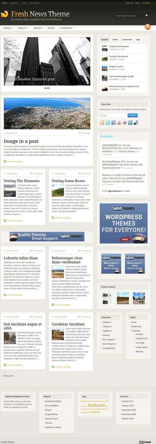 fresh news wordpress theme - Fresh News 3.0 Premium WordPress Theme