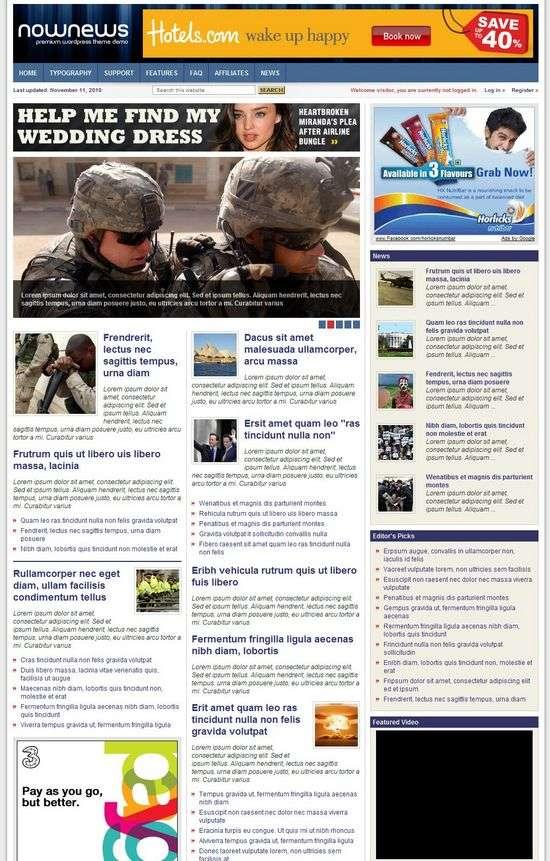 nownews wordpress theme - NowNews Premium WordPress Theme