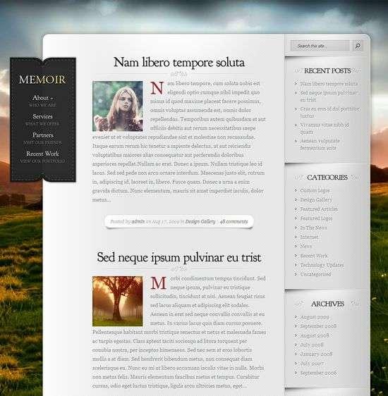 memoir wordpress theme - Memoir Premium WordPress Theme