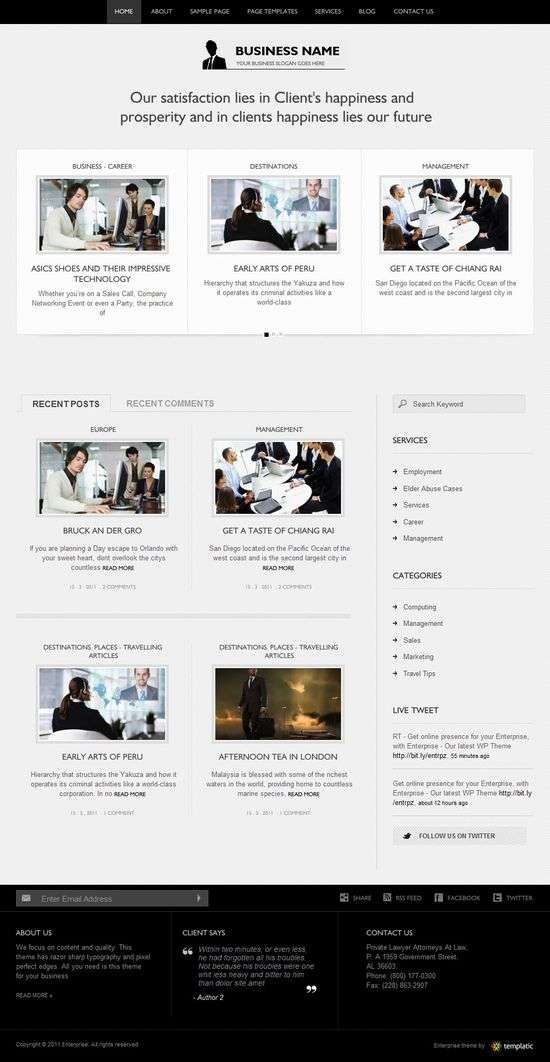 enterprise wordpress theme - Enterprise Premium WordPress Theme
