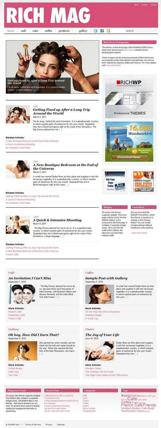 rich magazine wordpress theme - RichMagazine Premium WordPress Theme