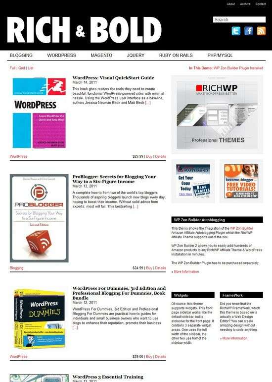 richaffiliate wordpress theme - Rich Affiliate Premium WordPress Theme