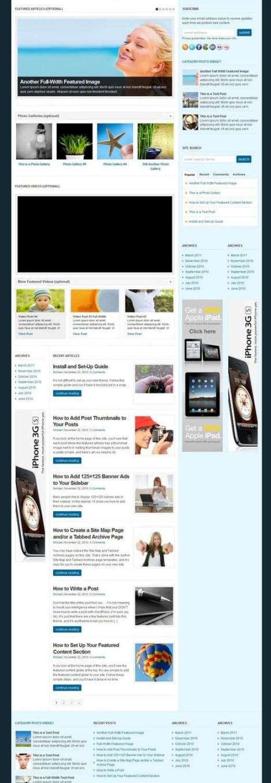 wp elegance wordpress theme - WP Elegance Premium WordPress Theme