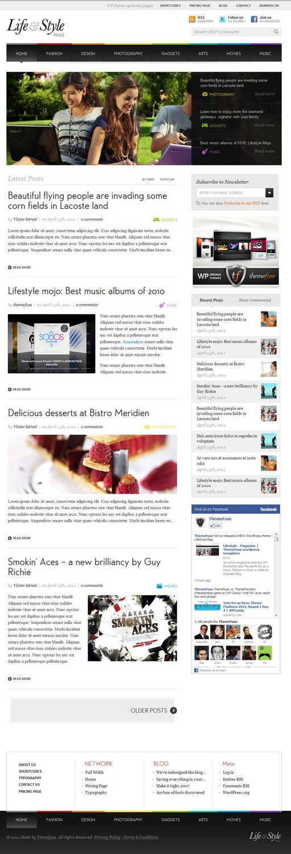 life style wordpress theemfuse - Lifestyle Mag WordPress Theme