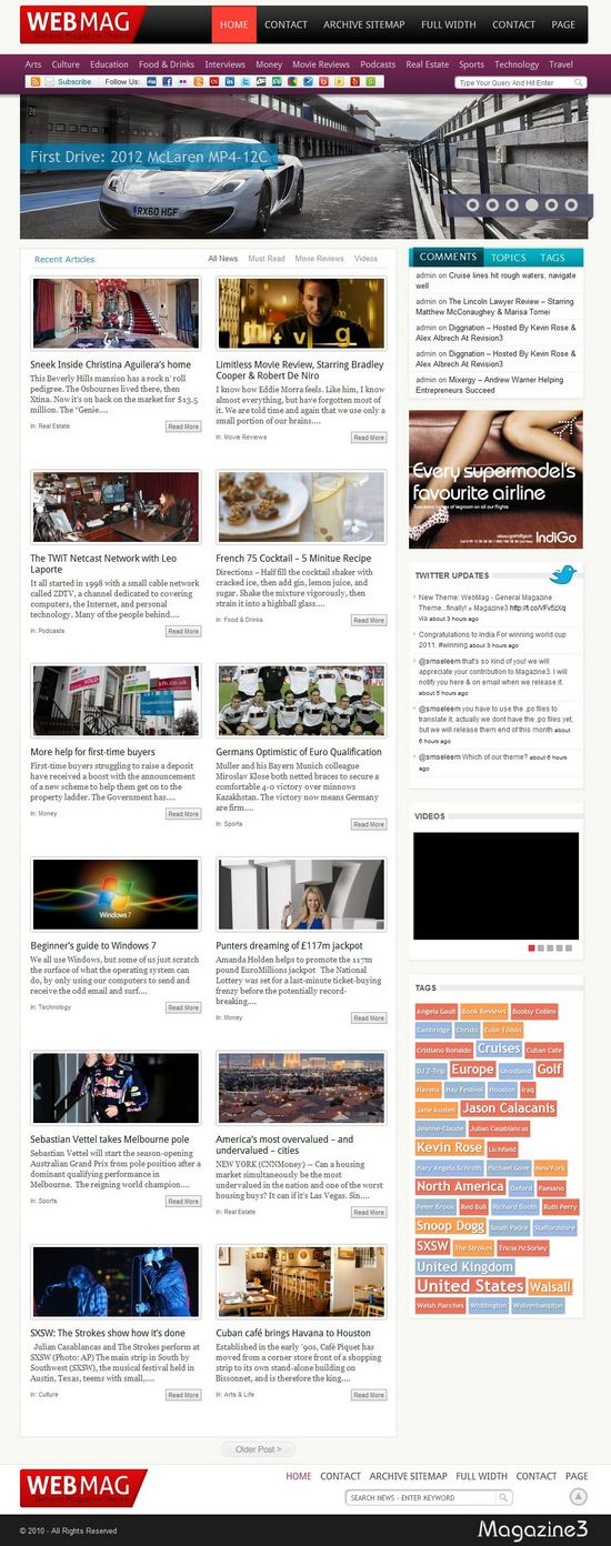webmag wordpress theme - WebMag Premium WordPress Theme