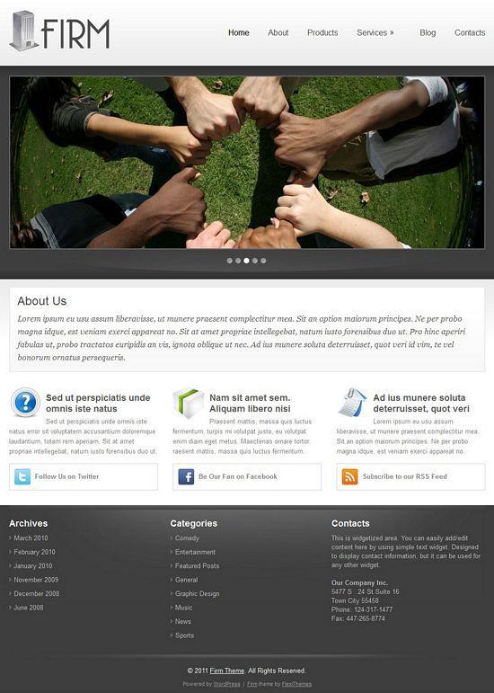 firm flexithemes avjthemescom - Firm WordPress Theme