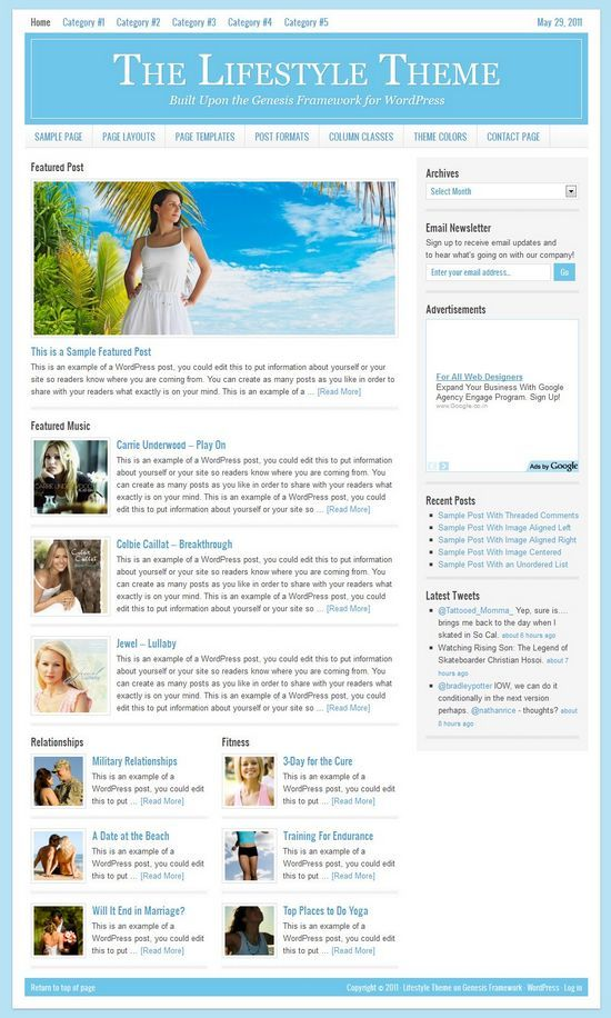lifestyle studiopress avjthemescom - StudioPress Lifestyle 2.0 WordPress Theme