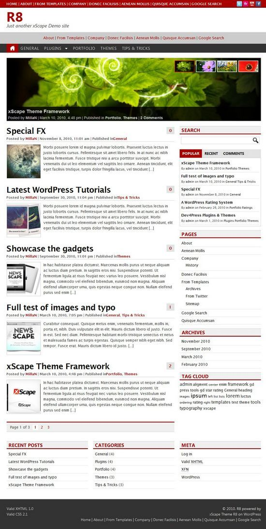 r8 blog wordpress theme - R8 Blog WordPress Theme