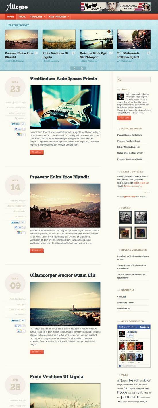 allegro colorlabs avjthemescom - Allegro WordPress Theme
