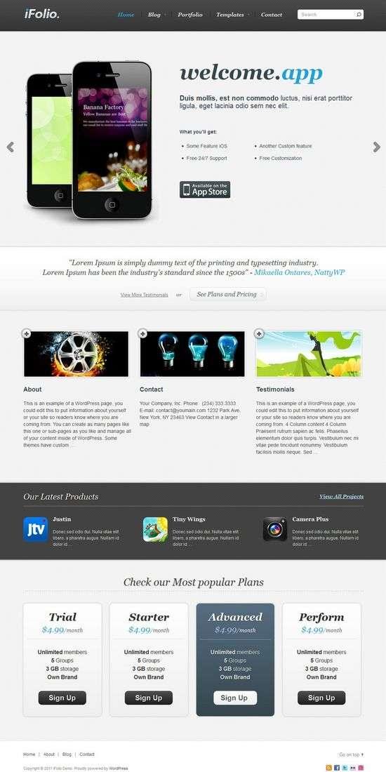 ifolio nattywp avjthemescom01 - iFolio WordPress Theme