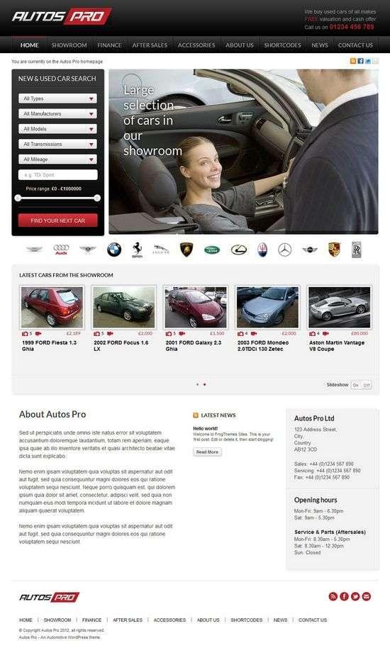 autos pro frongthemes avjthemescom 01 - Autos Pro WordPress Theme