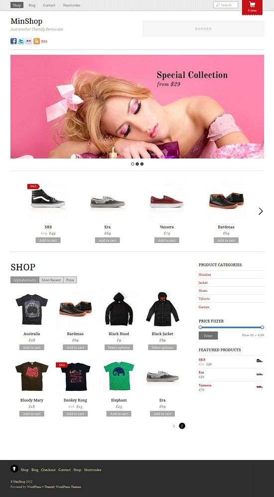 minshop wordpress theme - Minshop WordPress Theme