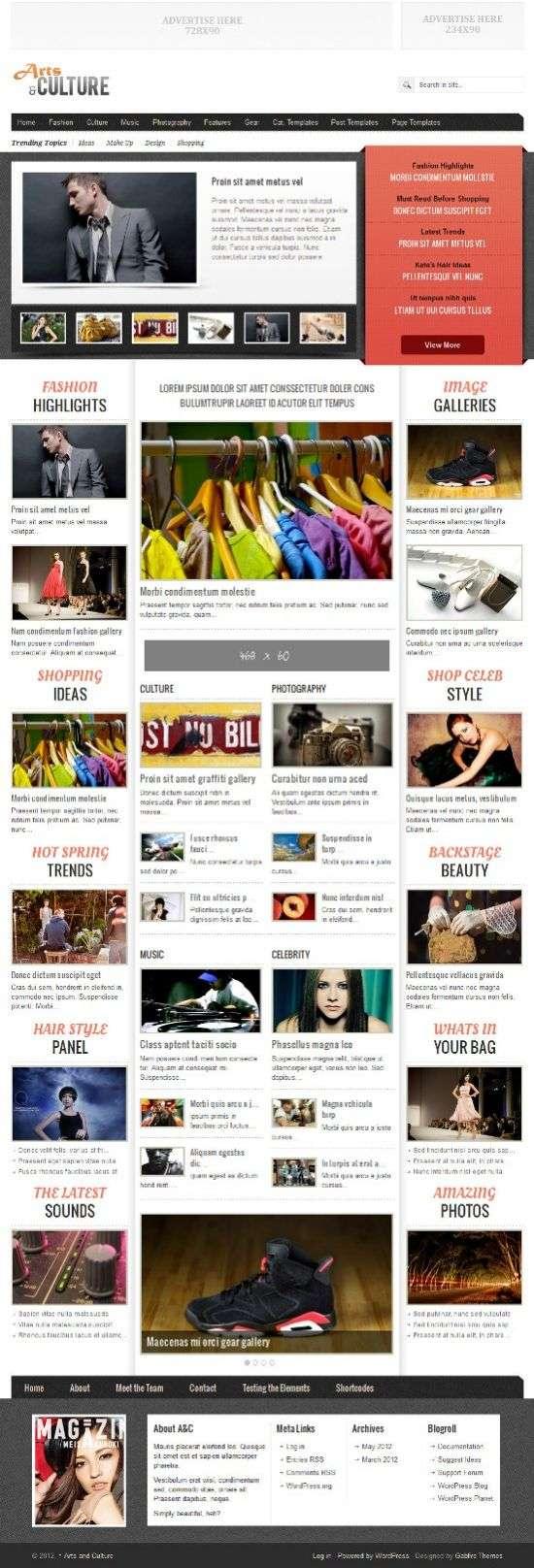 arts and culture gabfire avjthemescom 01 - Arts and Culture WordPress Theme