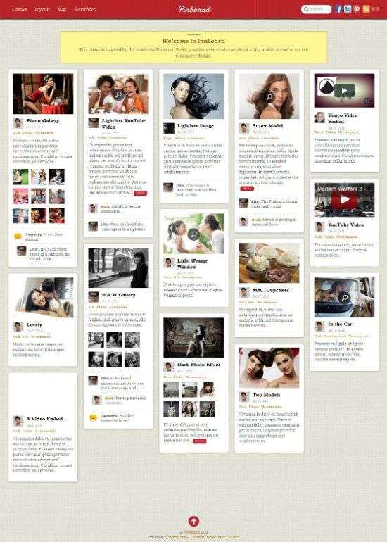 pinboard pinterest themify - Pinboard WordPress Theme