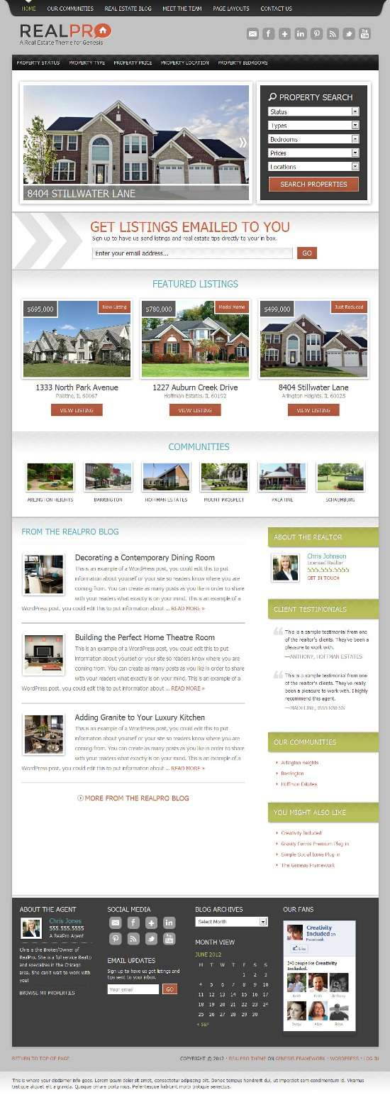 realpro studiopress avjthemescom 01 - RealPro WordPress Theme