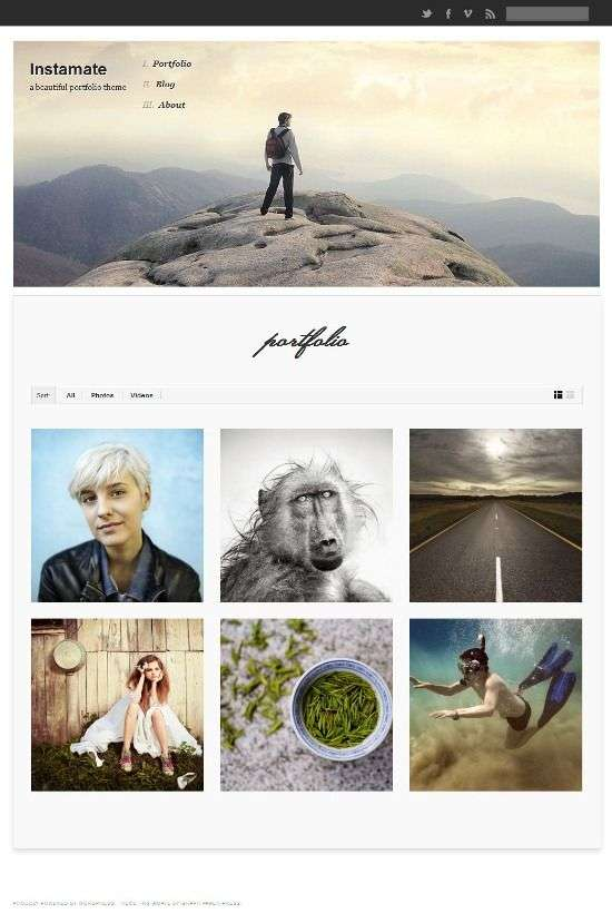 instamate wordpress theme - Instamate WordPress Theme
