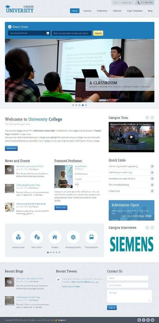 templatic education avjthemescom 01 - Education Academy WordPress Theme