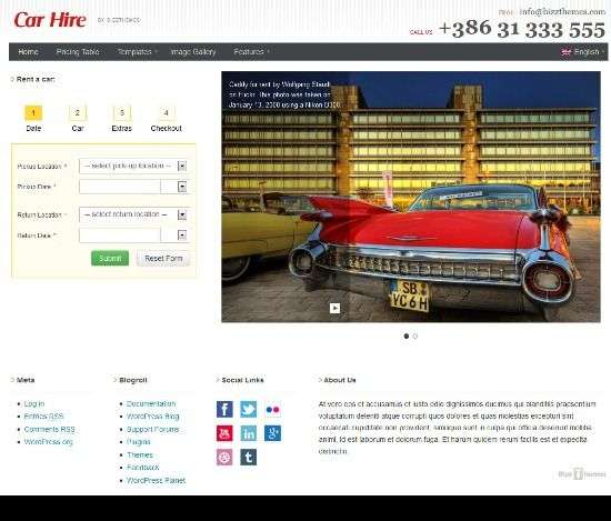 car hire bizzthemes avjthemescom 01 - Car Hire WordPress Theme