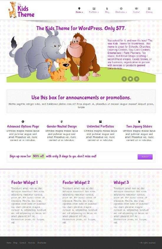 the kids alohathemes avjthemescom 01 - The Kids WordPress Theme