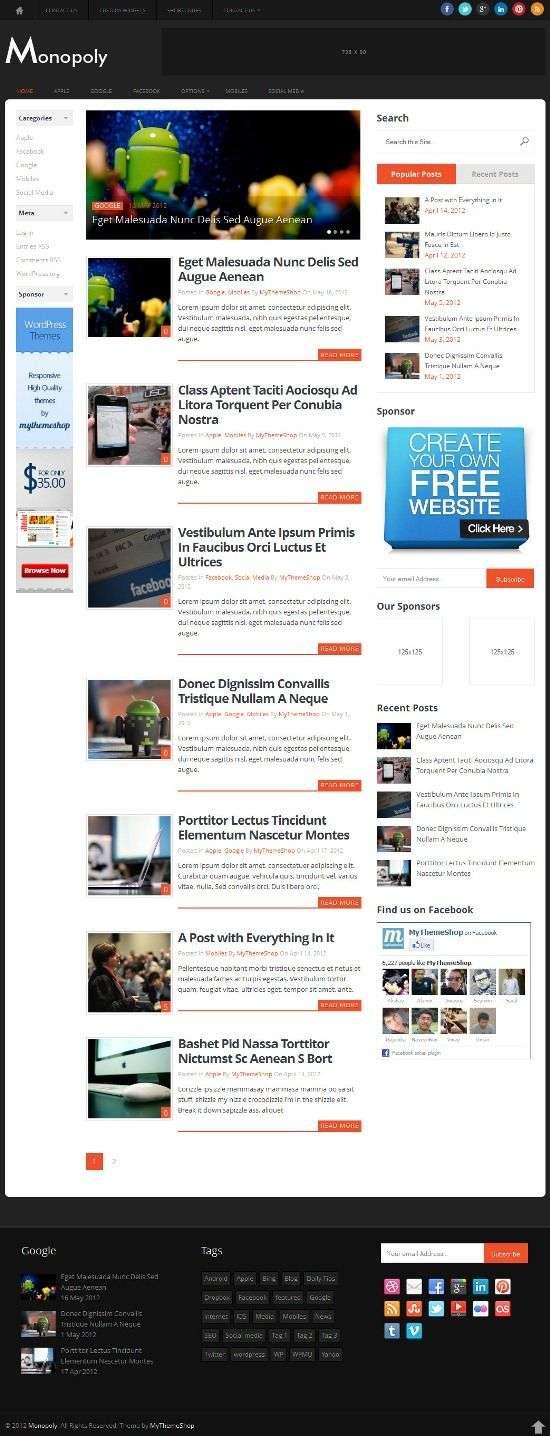 monopoly mythemeshop avjthemescom 1 - Monopoly WordPress Theme