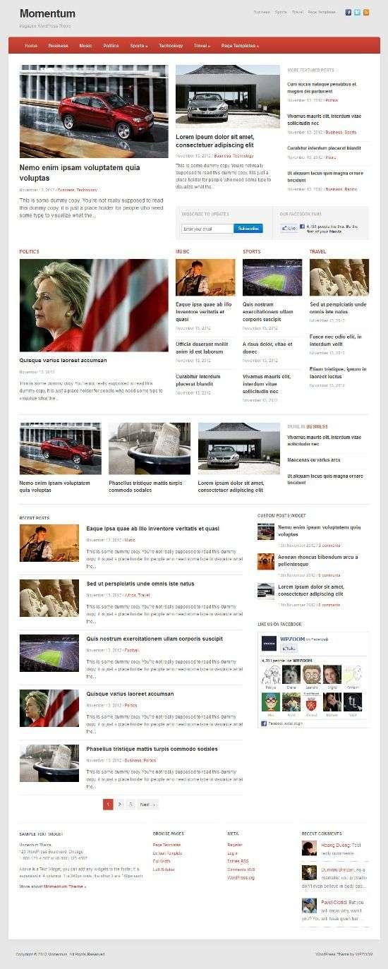 momentum wpzoom avjthemescom 01 - Wpzoom's Momentum WordPress Theme
