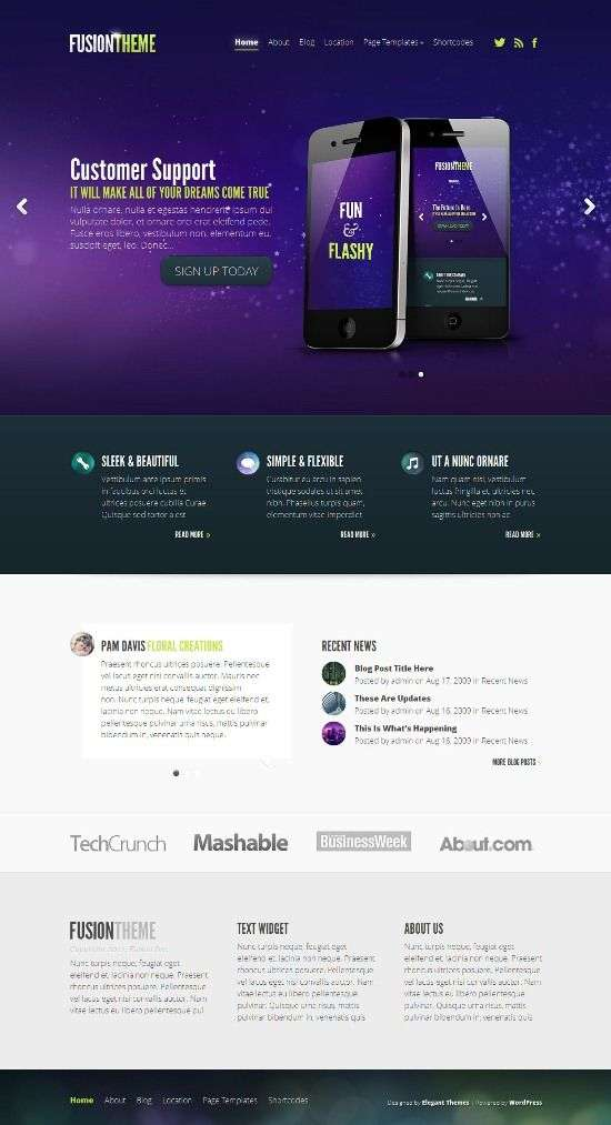fusion eleganthemes avjthemecom 01 - Fusion WordPress Theme