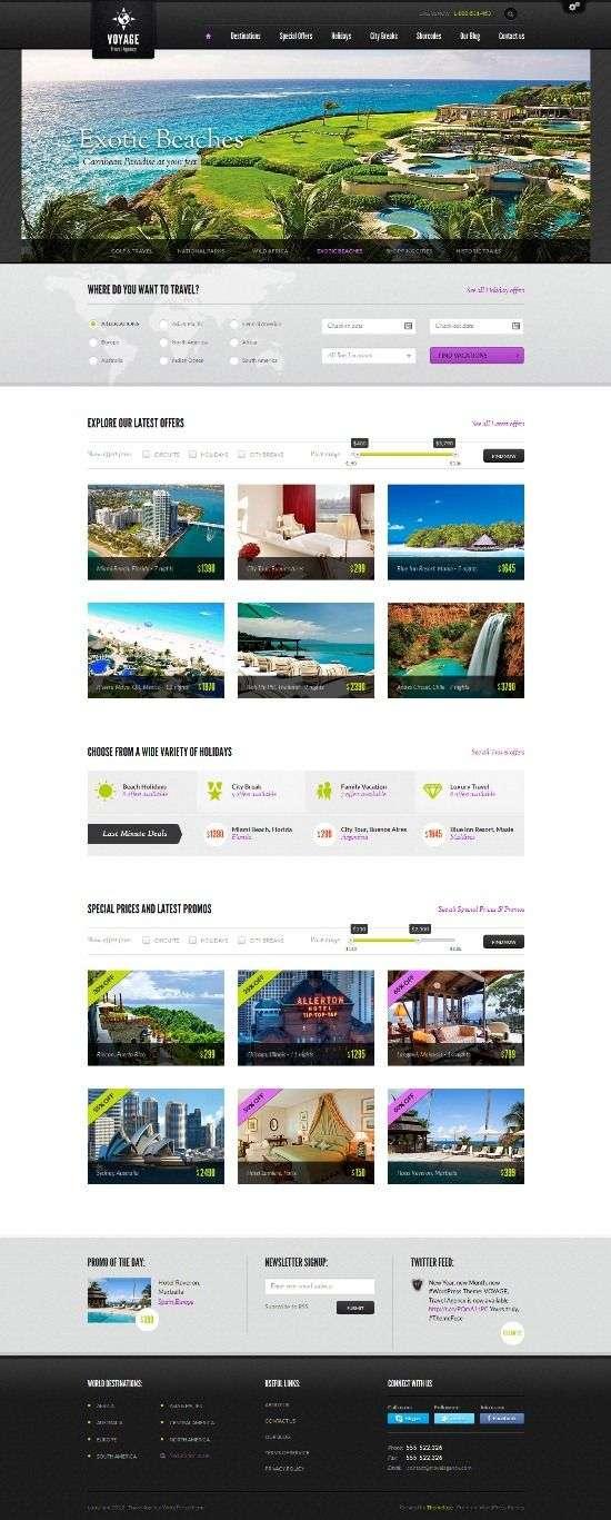 voyage themefuse avjthemescom 01 - Voyage WordPress Theme