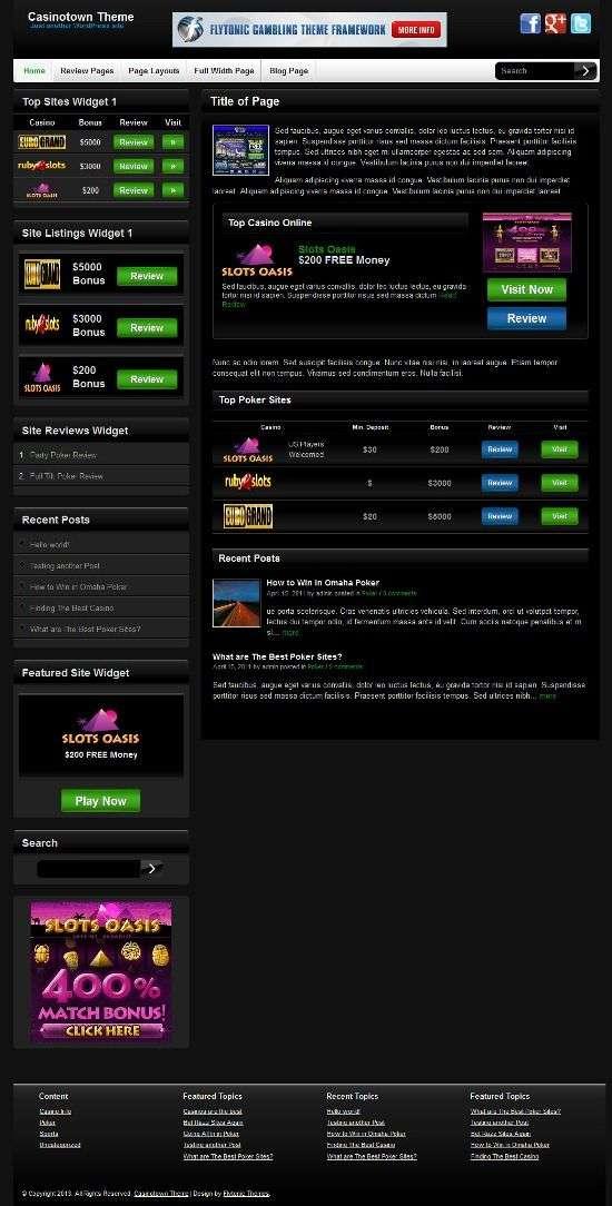 casinotown flytonic avjthemescom 1 - Casinotown WordPress Theme