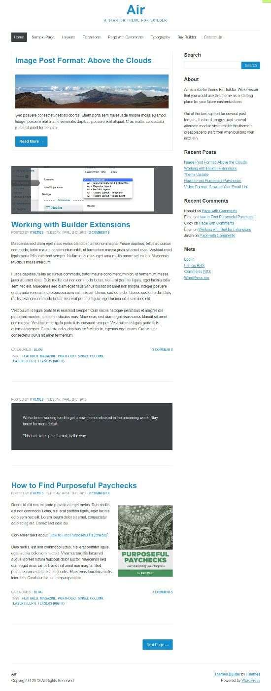 air ithemes avjthemescom 01 - iThemes Air WordPress Theme