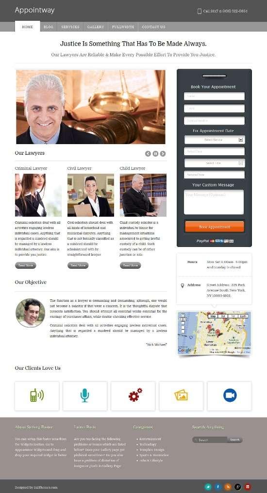 appointway inkthemes avjthemescom 01 - Appointway WordPress Theme