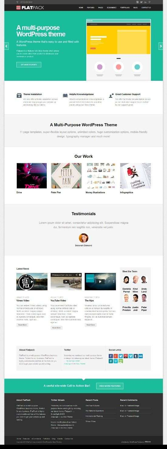 flatpack obox themes avjthemescom 01 - Flatpack WordPress Theme