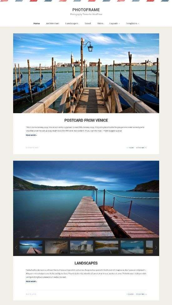 photoframe wpzoom avjthemescom 01 - Photoframe WordPress Theme