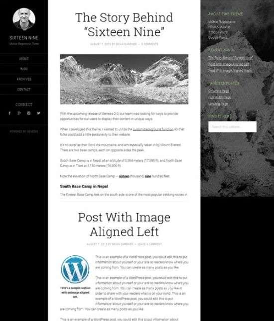sixteen nine studiopress avjthemescom 01 - Sixteen Nine WordPress Theme