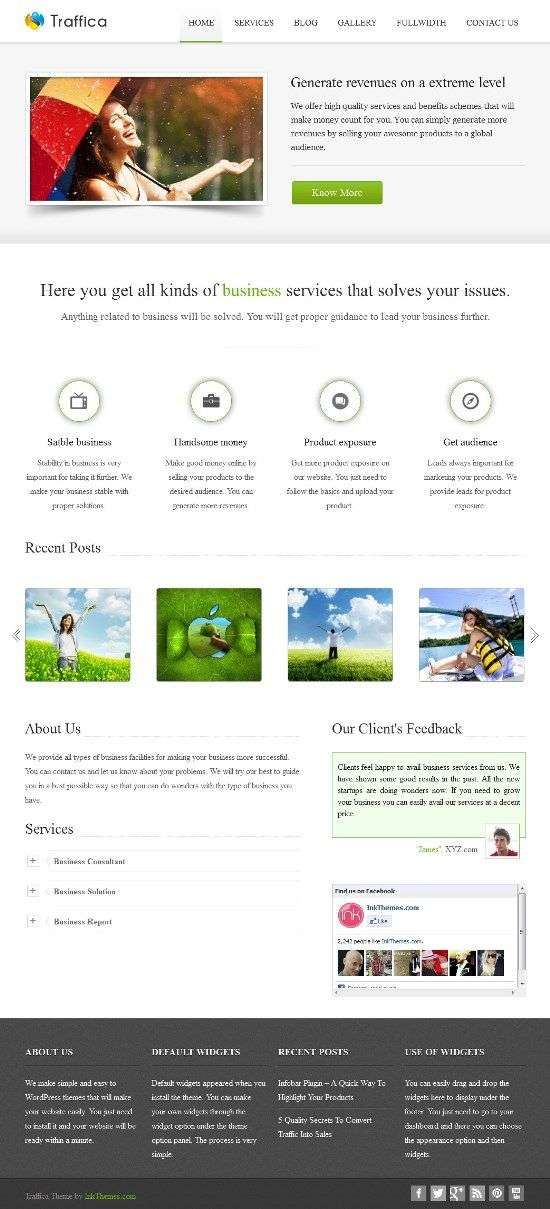 traffica inkthemes avjthemescom 01 - Traffica WordPress Theme