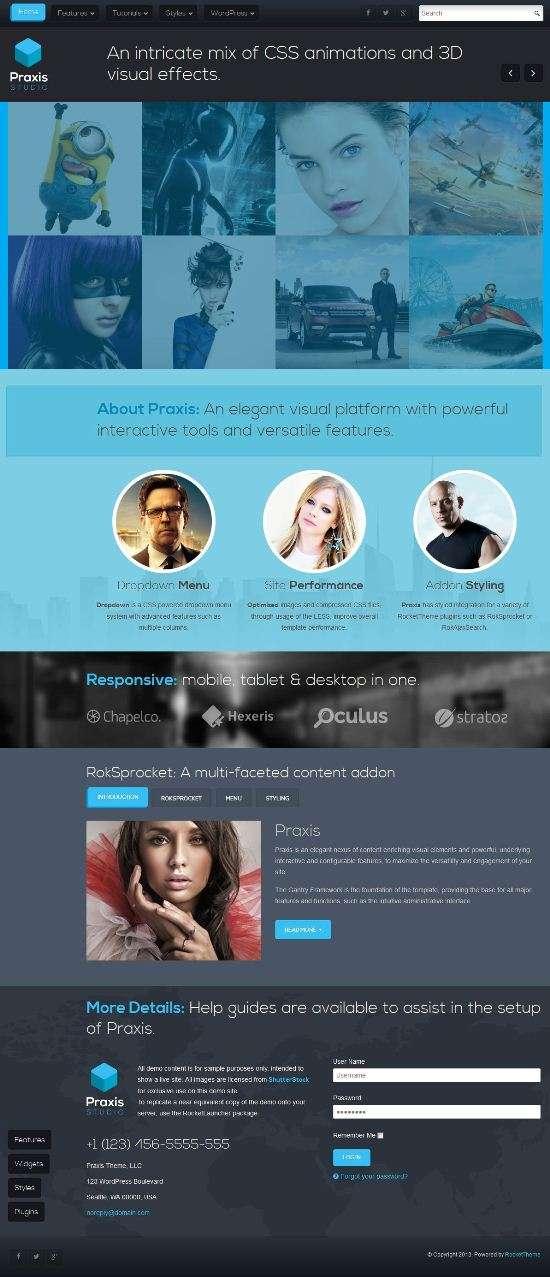 praxis rockettheme avjthemescom 01 - Praxis WordPress Theme