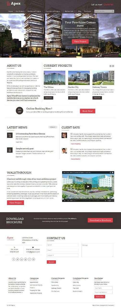 apex construction templatic - Apex WordPress Theme